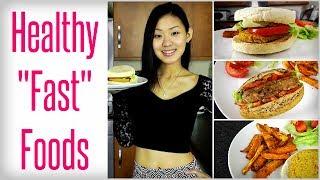 getlinkyoutube.com-Healthy 'Fast' Foods - Veggie Burger, Hot Dog & Fries