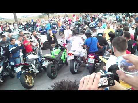 Concentración mototurística Sanxenxo 2012 - Motos al corte