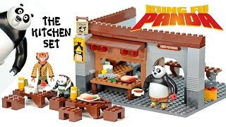 getlinkyoutube.com-Kung Fu Panda 3 The Kitchen Set Unofficial LEGO Set Speed Build w/ Master Po Ping