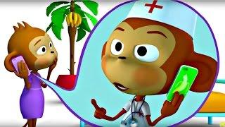 getlinkyoutube.com-Пять мартышек. Мультфильм песенка про маленьких обезьянок для детей. Учимся считать.