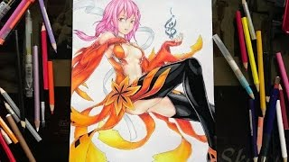 getlinkyoutube.com-Drawing Inori Yuzuriha - Guilty Crown