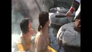 getlinkyoutube.com-長野諏訪湖 立ち寄り湯 音無の湯 露店風呂取材協力