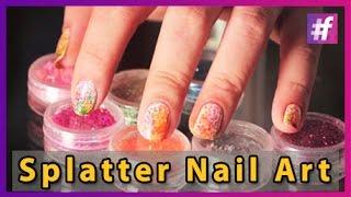getlinkyoutube.com-Splatter Nail Art Tutorial
