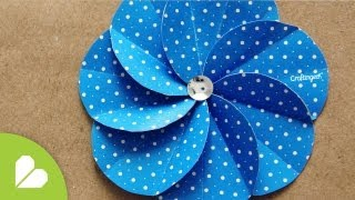 getlinkyoutube.com-Flor Espiral · Scrapbook Flower
