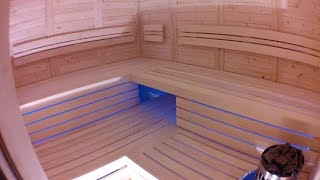 getlinkyoutube.com-Bauanleitung Blockbohlensauna - Saunabank zusammenbauen