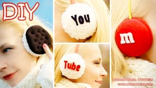 getlinkyoutube.com-DIY Earmuffs – How To Make Oreo, M&M's and YouTube Earmuffs