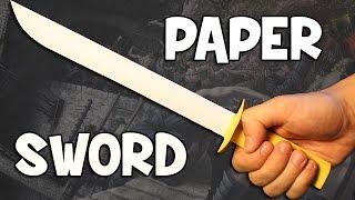 getlinkyoutube.com-How to make a paper sword | Easy and Fast