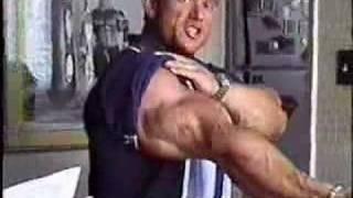 Lee Priest's monster biceps