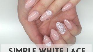 getlinkyoutube.com-Simple White Lace Nails     koronkowe paznokcie     My Wonderland