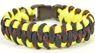 "getlinkyoutube.com-Paracord Survival Bracelet - The ""Woven Weave"" Design - BoredParacord"