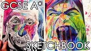 getlinkyoutube.com-A* GCSE Fine ART Sketchbook Tour + Final Pieces