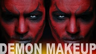 getlinkyoutube.com-Demon Makeup | Halloween Makeup Tutorial | Alex Faction
