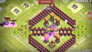 getlinkyoutube.com-Castle clash hbm o amazing base 100% no boom