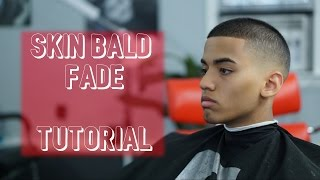 getlinkyoutube.com-Crew Cut - Short Men's Skin Bald Fade Hair Tutorial - (Showcase)