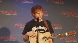 Ed Sheeran was asked if he kissed taylor before