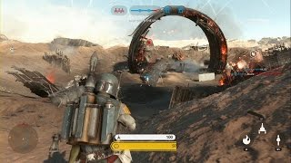 getlinkyoutube.com-Star Wars Battlefront - Battle of Jakku Walker Assault Gameplay PS4 (No Commentary)