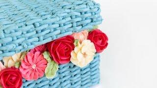 getlinkyoutube.com-Beautiful FLOWER BASKET Cake Decorating! - CAKE STYLE