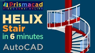 getlinkyoutube.com-Spiral Staircase 3D with Handrail, rail and posts in a few minutes -- AutoCAD