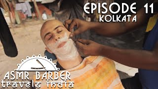 Indian Street Barber - Shave with head Massage - intentional ASMR