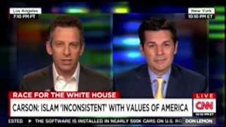 Dean Obeidallah and Sam Harris on CNN with Don Lemon talking anti Muslim comments by Ben Carson