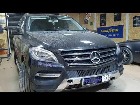 Mercedes ML восстановление оптики, замена линз.
