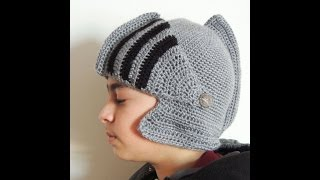 getlinkyoutube.com-Crochet : Gorro Medieval.  Protector de Cara.  Parte 1 de 2