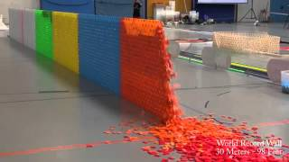 getlinkyoutube.com-128,000 Dominoes   Falling into past   a journey around the world 2 Guinness World Records)   YouTub