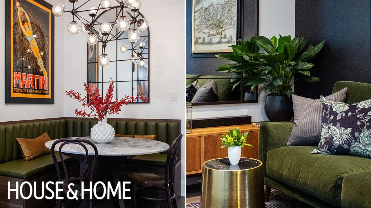 A Modern Makeover with Green Accents & Hidden Storage