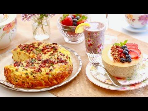 3-Course Mother's Day Brunch (Strata, Smoothie & Breakfast Parfait) Bigger Bolder Baking