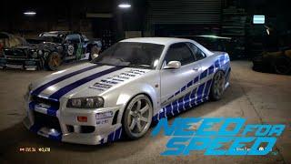 getlinkyoutube.com-Need for Speed 2015 | PAUL WALKER's NISSAN GTR R34 SKYLINE | SPECIAL