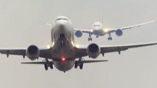 getlinkyoutube.com-BOEING 787 behind you!  Boeing 737 Departure and Boeing 787 Dreamliner Landing