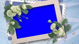 getlinkyoutube.com-beautiful wedding photo design in blue screen free stock footage