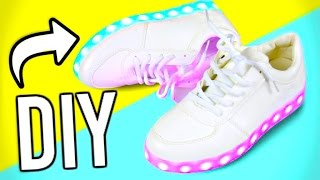 getlinkyoutube.com-DIY Light up shoes! DIY ideas you NEED to try!