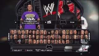getlinkyoutube.com-WWE Smackdown vs Raw 2011 Character Select Screen Including All DLC Packs Roster
