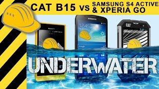 getlinkyoutube.com-CAT B15 vs. Samsung S4 Active & Xperia Go - Will it crash? Outdoor Smartphone Test & Comparison