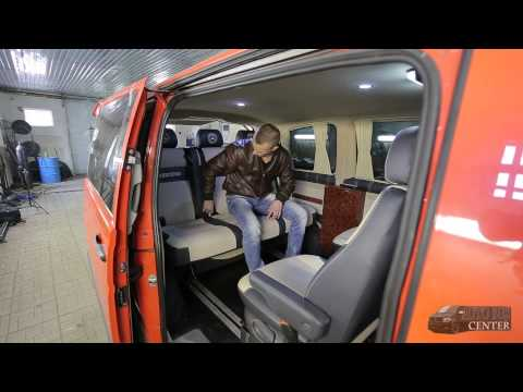 Переоборудование микроавтобусов - Автомобильный диван трансформер Premium