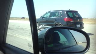 Audi TT VS VW Tiguan drag race- no fly zone