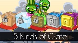 getlinkyoutube.com-Bad Piggies - 5 KINDS OF CRATE (New Update 2.2.0) - Cake Race