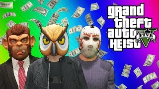 getlinkyoutube.com-GTA 5 Heists #1: Stealing the Plane & Prison Bus! (GTA 5 Online Funny Moments) [Part 1]