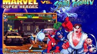 getlinkyoutube.com-Marvel Super Heroes vs. Street Fighter (Arcade) - Shadow