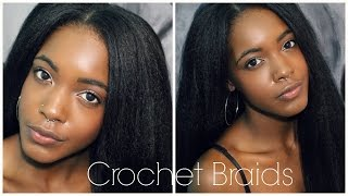 getlinkyoutube.com-How To: Easy Natural Looking Vixen Crochet Braids + How To Straighten & Blend Kanekalon Hair