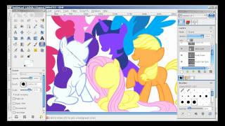 getlinkyoutube.com-My Little Pony Speed Drawing with Gimp Paths Tool