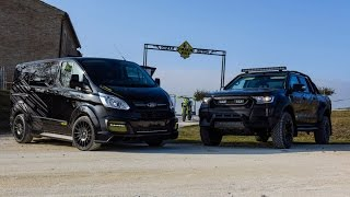 getlinkyoutube.com-Valentino Rossi VR46 Cars: 2017 Ford Ranger & Ford Transit