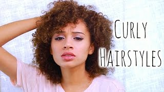 getlinkyoutube.com-5 Easy CURLY Hairstyles For School