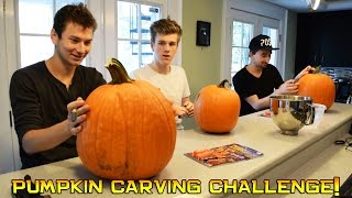 getlinkyoutube.com-Pumpkin Carving Challenge!