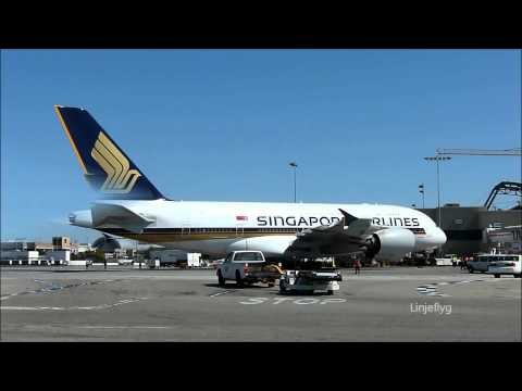 Singapore Airlines  Airbus A380 Inaugural Flight To Los Angeles
