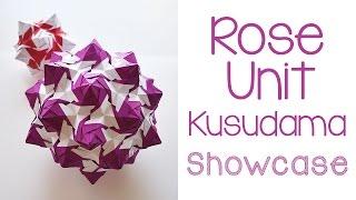 getlinkyoutube.com-Rose Unit Kusudama Showcase