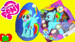 getlinkyoutube.com-My Little Pony Rainbow Dash Play Doh Surprise Egg with MLP Surprises