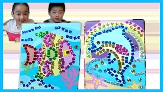 getlinkyoutube.com-かんたん&かわいい モザイク画に初挑戦!/Easy & Cute! The first challenge to the mosaic!
