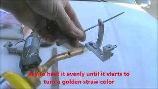 getlinkyoutube.com-How to heat color a steel tattoo Frame